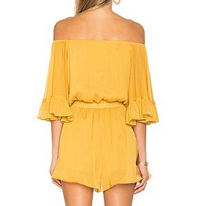 Endless Rose Pants & Jumpsuits - Endless Rose Romper Yellow Ruffle Sleeve Shorts